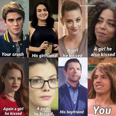 I love riverdale but I wish Archie would stick with one person! I wish he never would've dated miss Grundy like REALLY! Bughead Riverdale, Riverdale Funny, Riverdale Memes, Riverdale Season 1, Funny Memes, Hilarious, Jokes, Tv Memes, Archie Comics Riverdale