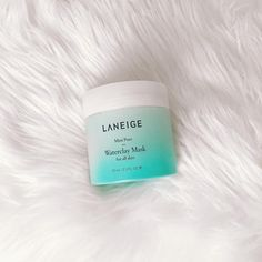 Laneige Mini Pore Waterclay Mask  I havent seen many people talk about this @laneige_us mask on insta so I wanted to share my thought on this!  This clay mask is meant for all skin types and is described as a gel-clay clarifying mask that claims to remove pore-clogging oil and impurities. I put this on at night (remember not to do a clay mask the day of/night before a big event because they tend to bring your impurities to the surface!) and leave it on for about 15 minutes until it dries. It…