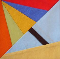 Umbrella paper piecing quilt block
