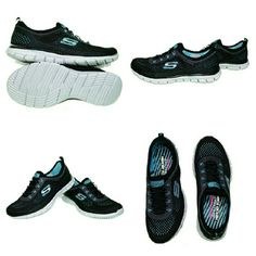 Skechers Women's Glider Black/Aqua- size 8 New i Skechers Women's Glider Black/Aqua- size 8 New in box. Photography is my passion. All photos were taken of the actual clothing item by me. No fake website advertisement photos are used. What you see is what you would purchase. Skechers Shoes Sneakers