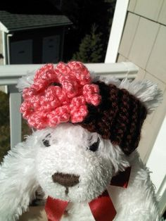 Baby Headband Brown with Pink Flower size 03M by Antrisity on Etsy, $13.80