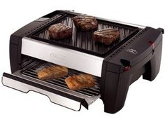 George Foreman and Beyond - Great Indoor Grills: DeLonghi Indoor Grill With Broiler Drawer