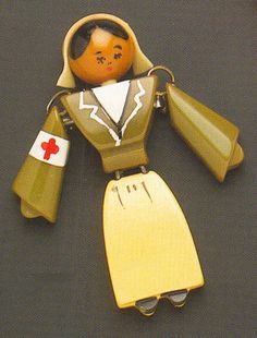 Bakelite nurse pin