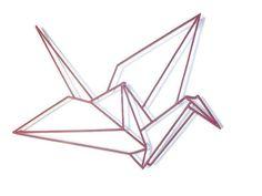 Fuchsia PinkOrigami crane,Wall Sculpture,Original,unique object,Metal Sculpture,Metal Wall Art,Modern Sculpture,home decor,iron,modern art