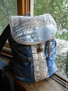 """Купить Рюкзак """"Городской """" - рюкзак, джинсовый стиль, деним, джинсовый рюкзак, городской рюкзак"""