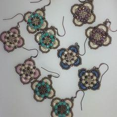 India earrings -beaded by me- which one you like most?  designed by the talented FrancescaPiombino  #beadedjewelry #beadedearringsforsale #beautifuljewelry #beadedearrings #handmadejewelry #handmadeearrings #seedbeads #arcosparpuca #minosparpuca #fp_bijoux_milano #bouclesdoreilles #tissagedeperles #faitmain #instajewelry#elenascraftsbox