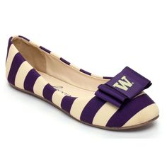 Washington Huskies Lillybee U Women's Flats with Removable Bow