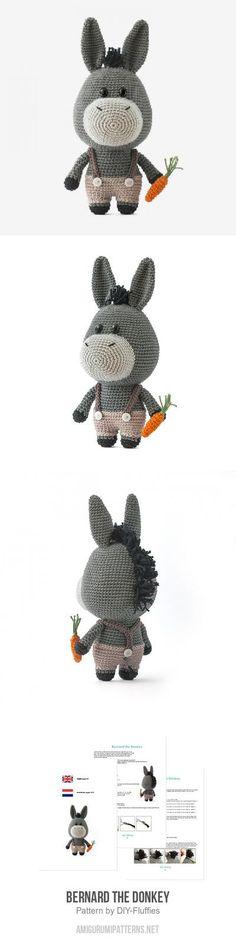 Bernard the Donkey amigurumi pattern
