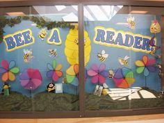 Library display case. Cute Bee display Summer of 2013