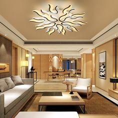 LED Ceiling Lights For Living Room Bedroom Decoration Lighting Fixtures AC90 260V Flame Shaped