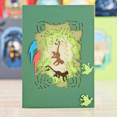 Make jungle themed cards with the @docrafts Xcut Shadow Box Holiday Die Collection. Shop