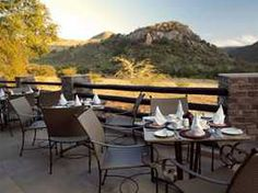 Outside dining- Kwa Maritane Bush Lodge. Quote and book http://www.south-african-hotels.com/hotels/kwa-maritane-bush-lodge-pilanesberg/