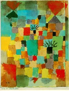 Southern Tunisian Gardens by Expressionist Artist Paul Klee Counted Cross Stitch or Counted Needlepoint Pattern Wassily Kandinsky, Paul Klee Art, Expressionist Artists, Watercolor Artists, Watercolor Paintings, Modern Artists, Art Plastique, Famous Artists, Les Oeuvres