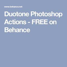 Duotone Photoshop Actions - FREE on Behance