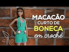 (40) Macacão de boneca em crochê - YouTube Barbie Patterns, Doll Clothes Patterns, Clothing Patterns, Crochet Barbie Clothes, Crochet Dolls, Moda Barbie, Doll Videos, Crochet Videos, Barbie Dress