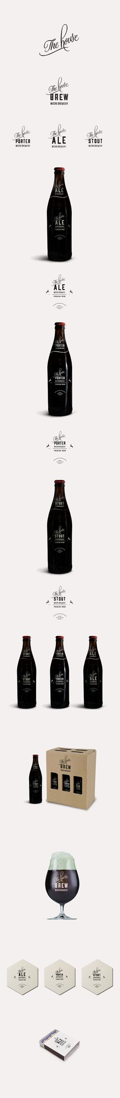 The House Brewery: CI & Packaging design by Louwrens Venter, via Behance