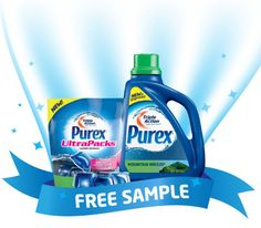 Prove it to yourself with a FREE #sample at www.FreeSamplePurex.com! Sample packets will be sent by mail in about 6-12 weeks. Samples are only available in Mountain Breeze fragrance. U.S. households only. Limit one Purex sample per household per 12 months. While supplies last.