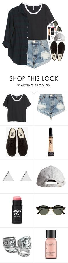 """""""Untitled #360"""" by lethargicbea ❤ liked on Polyvore featuring H&M, One Teaspoon, Vans, Jennifer Meyer Jewelry, Ray-Ban, Perricone MD and Xirena"""