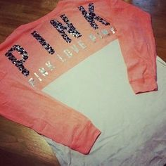 Victoria's Secret Sweaters -   coral bling varsity
