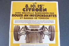 Citroën Les 8-10-15cv Ancienne Affiche d'intérieur de Garage en papier  REF 02 | Collections, Objets publicitaires, Publicités papier | eBay!