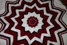 Crochet Star Afghan Free Shipping