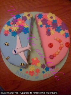 Birthday cake for lovely twins in blue and pink x