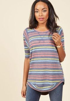 #AdoreWe #ModCloth ModCloth Best of Botanical Top in Stripes in M - AdoreWe.com