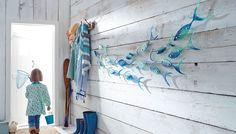 Fish Wall Decor, Fish Wall Art, Glass Wall Art, Fish Art, Hanging Wall Art, Metal Wall Art, Pattern Design Drawing, Glass Art Pictures, Glass Installation
