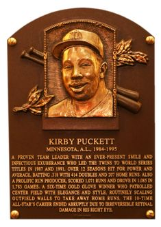 Puckett, Kirby   Baseball Hall of Fame