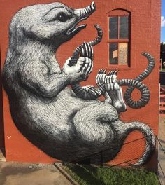 by ROA in Fort Smith, Arkansas, 9/15 Street Art Utopia, Street Art News, Best Street Art, Fort Smith, City Art, Graffiti Art, Comic Books Art, Urban Art, Rue