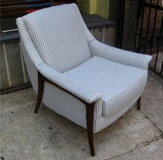 1950's Upholstered Club Chair  *SOLD* - White Trash NYC