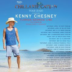 Get more information on Kenny Chesney tour dates, venues, and tickets.