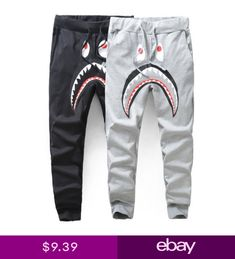 73057b8d60de Lover Bape A Bathing Ape Shark Jaw Monkey Head Mens Sports Sweat Pants  Trousers Bape Hoodie