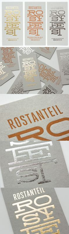 The typography is a real stand out on this business card design and the printing and design of the cards makes the best use of this.