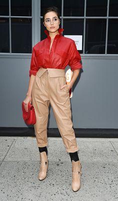 Olivia Culpo seen at New York Fashion Week