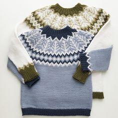 Ravelry: Emblagenser/Emblasweater pattern by Tina Hauglund Kids Knitting Patterns, Baby Knitting, Crochet Baby, Knit Crochet, Knit Baby Sweaters, Knitted Baby Clothes, Big Knit Blanket, Big Knits, Grandkids