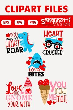 Valentine's Day clipart lettering is great for kids apparel, and other Valentine creative projects. Christmas Toilet Paper, Christmas Svg, Valentines Day Clipart, Valentines Recipes, You Make Me Melt, Letters For Kids, Buddy The Elf, Clip Art, Valentine's Day Outfit