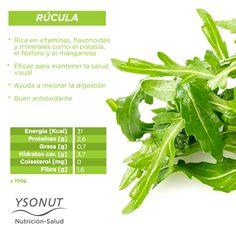 ¡Nos encanta! La #rúcula además de dar ese toque particular de #sabor, nos aporta muchos #beneficios