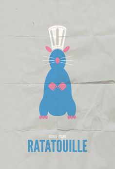 Ratatouille, minimalist movie poster