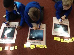 Look at your picture, use the words to make a sentence that makes sense- read to check- write your sentence