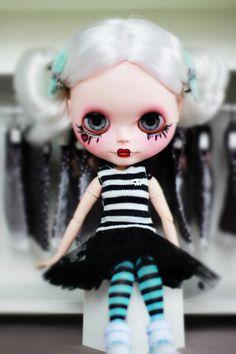 RESERVED for Nadyne 3rd  Custom blythe doll  OOAK by BigEyesBlythe