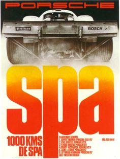 1000 Kms de Spa Race Poster 1970