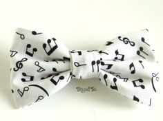 Recital, Band, Concert, Music Note, Quirky, Clip-On Unique Bow Tie For Men, Teen, Boys in 100% Cotton. $14.00, via Etsy.