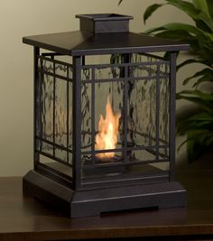 The robie personal fireplace can be enjoyed indoors or out.  It creates a bright flame that gives off heat.