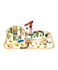 Wooden Train Set | zulily