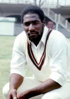 Viv Richards at Lord's at the start of the 1976 tour