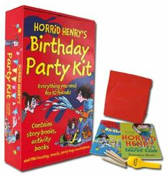 Horrid Henry Complete Birthday Party Kit (Horrid Henry Story Book, Horrid Henry Activity Book, A Balloon, A Pack of Colouring Pencils, A Party Bag) 4th Birthday, Birthday Parties, Party Kit, Party Ideas, Colouring Pencils, Book Activities, Colored Pencils, Balloons