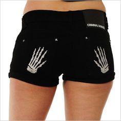 Criminal Damage shorts