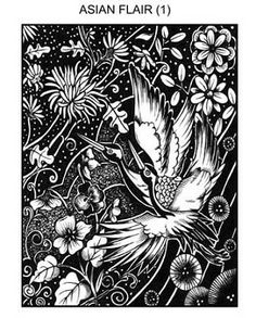 ASIAN FLAIR 1 STATIC MOUNTED RUBBER STAMP $11.99