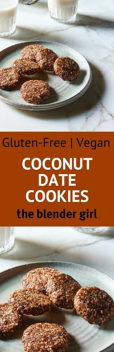 Vegan Coconut Cookies   Allergy Free Coconut Cookies   The Blender Girl #vegancookies #coconutcookies